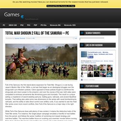 Total War Shogun 2 Fall of the Samurai - PC