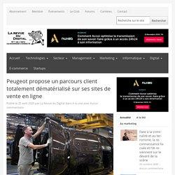 Peugeot propose un parcours client totalement dématérialisé sur ses sites de vente en ligne