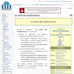 Le siècle des totalitarismes — Wikiversité