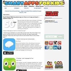 Top 50 Totally FREE Educational Apps on iTunes (no in-app purchases!)