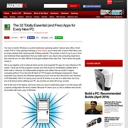 Maximum PC | The 32 Totally Essential (and Free) Apps for Every New PC - Page 1