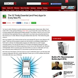 The 32 Totally Essential (and Free) Apps for Every New PC - Page 1