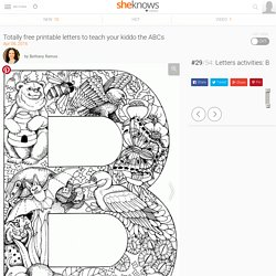 Totally free printable letters to teach your kiddo the ABCs: Letters activities: B