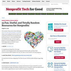 Social Media for Nonprofit Organizations Group News