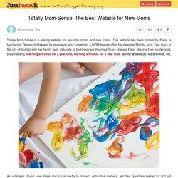 Totally Mom-Sense: The Best Website for New Moms