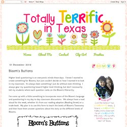 Totally Terrific in Texas: Bloom's Buttons
