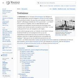 Totémisme
