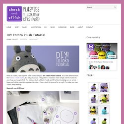 DIY Totoro Plush Tutorial : cheek and stitch