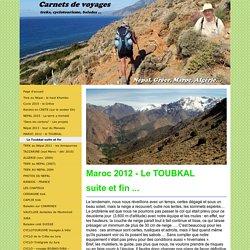 Le Toubkal suite et fin - treks, voyages à vélo, balades et trails