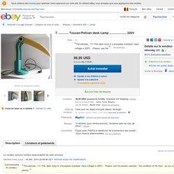 ۞ Toucan Pelican Desk Lamp 220V