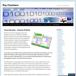 Touch Develop – Scheme Of Work | Ray Chambers