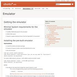 Touch/Emulator