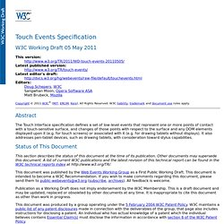 Touch Events Specification