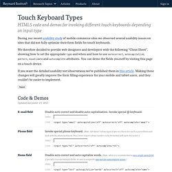 Touch Keyboard Type 'Cheat Sheet' - Labs