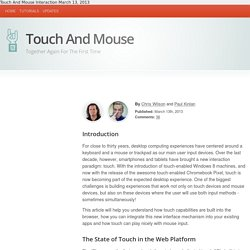 Touch And Mouse: Together Again For The First Time