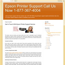 Get In Touch With Epson Printer Support Service
