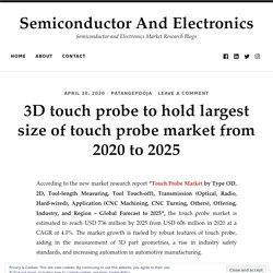 3D touch probe to hold largest size of touch probe market from 2020 to 2025