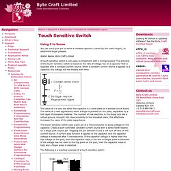 Touch Sensitive Switch