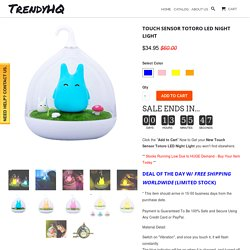 Touch Sensor Vibrant LED Night Light - TrendyHQ