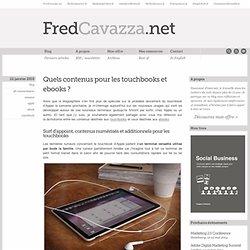 Quels contenus pour les touchbooks et ebooks ?