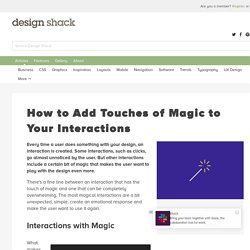 How to Add Touches of Magic to Your Interactions