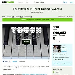 TouchKeys Multi-Touch Musical Keyboard by Andrew McPherson