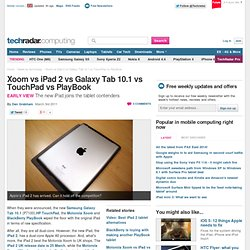 Xoom vs iPad 2 vs Galaxy Tab 10.1 vs TouchPad vs PlayBook