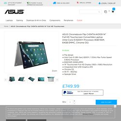 "ASUS Chromebook Flip C434TA-AI0109 14"" Full HD Touchscreen Convertible Laptop (Intel Core i5-8200Y Processor, 8GB RAM, 64GB eMMC, Chrome OS) - Chromebook - Laptops"