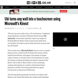 Ubi turns any wall into a touchscreen using Microsoft's Kinect