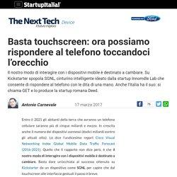 Basta touchscreen: ora possiamo rispondere al telefono toccandoci l'orecchio