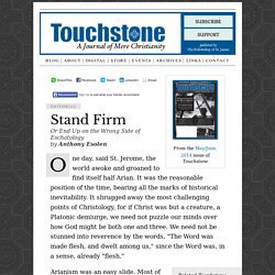 Touchstone Archives: Stand Firm