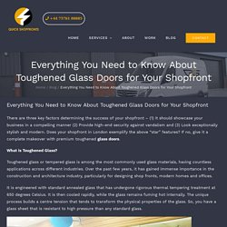 Toughened Glass Doors for Your Shopfront