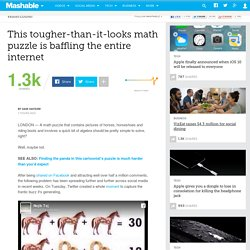 This tougher-than-it-looks math puzzle is baffling the entire internet