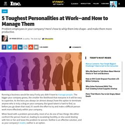 5 Toughest Personalities at Work and How to Manage Them