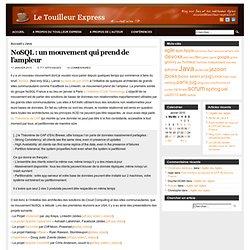 NoSQL : un mouvement qui prend de l'ampleur
