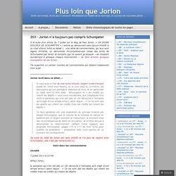 203 – Jorion n'a toujours pas compris Schumpeter