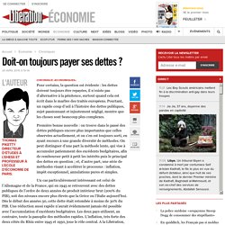 Piketty - Doit-on toujours payer ses dettes ?