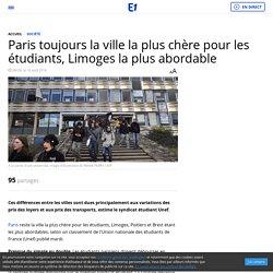 Paris toujours la ville la plus chère pour les étudiants, Limoges la plus abordable