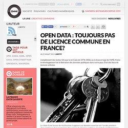 Open data : toujours pas de licence commune en France?