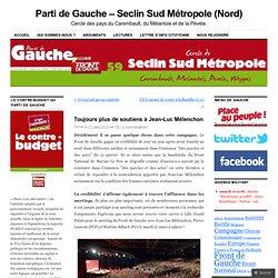 Toujours plus de soutiens à Jean-Luc Mélenchon