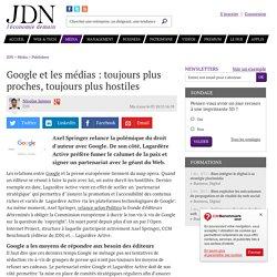 Google et les médias : toujours plus proches, toujours plus hostiles