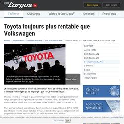 Toyota toujours plus rentable que Volkswagen – L'argus PRO