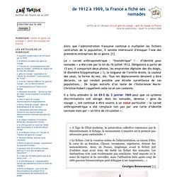 de 1912 à 1969, la France a fiché ses nomades