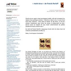 « matin brun » de Franck Pavloff