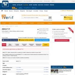 Société ABAULT 31 à TOULOUSE (Chiffre d'affaires, bilans, résultat) avec Verif.com - Siren 440346518