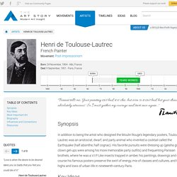 Henri de Toulouse-Lautrec Biography, Art, and Analysis of Works