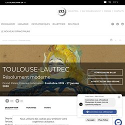 Toulouse-Lautrec jusqu'au 27 janvier 2020