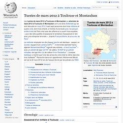 Tueries de mars 2012 à Toulouse et Montauban