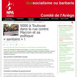 7 nov. 2020 - 5000 à Toulouse dans la rue contre Macron et sa politique « sanitaire » !