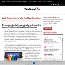 Toulouse7.com Axelle Lemaire finalise la loi République Numérique
